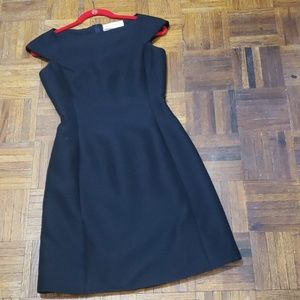 Midnight blue cap sleeve shift dress